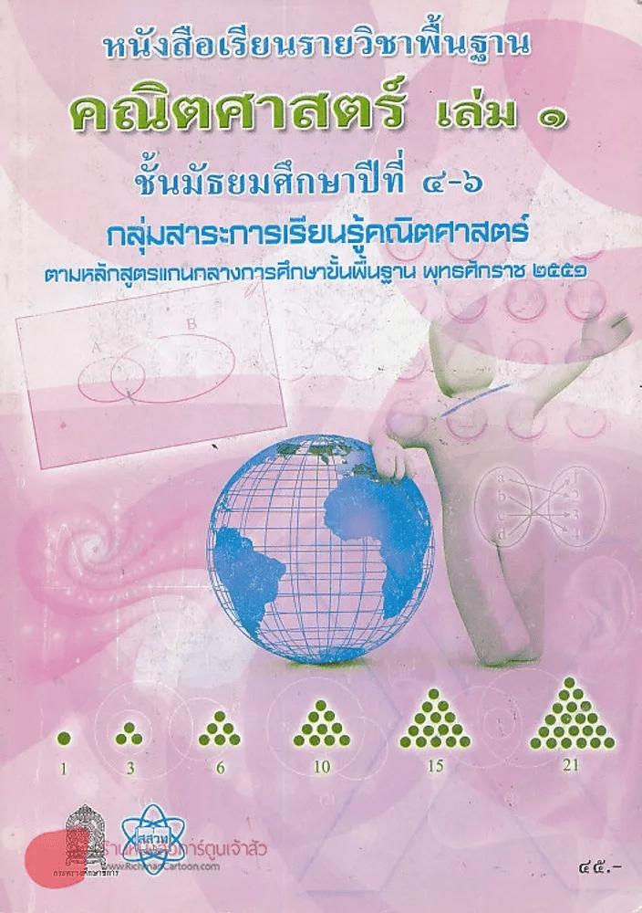 คณิตศาสตร์ เล่ม 1 ม.4-6 กลุ่มการเรียนรู้คณิตศาสตร์