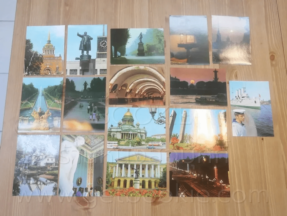 โปสการ์ด Leningrad ขนาด 11.5 X 16.5 cm