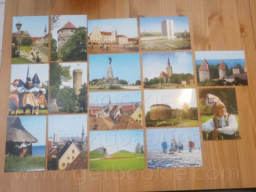 โปสการ์ด Tallinn  ขนาด 11.5 X 16.5 cm