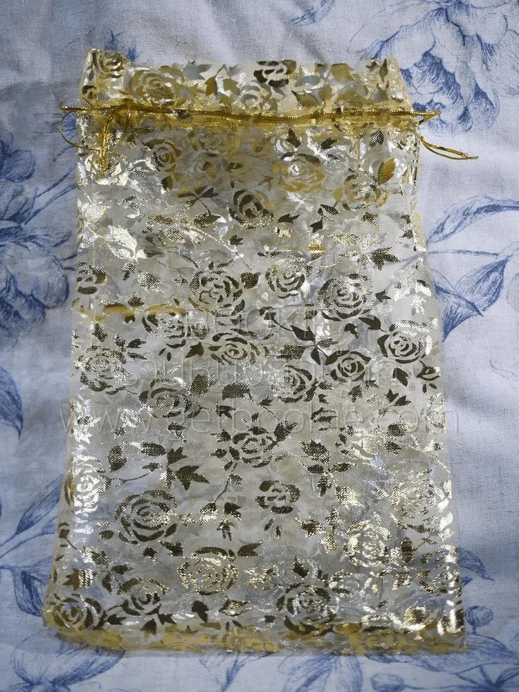 ถุงตาข่าย สีทองลายกุหลาบ (พรีออเดอร์ 14 วัน)