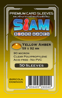 ซองใส่การ์ด 90M 59x92 MM Yellow Amber (Siam Board Game)