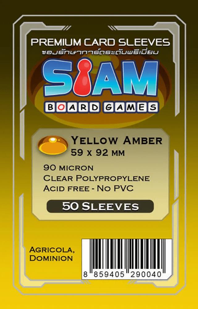 ซองใส่การ์ด 90M 59x92 MM Yellow Amber (Siam Board Game)