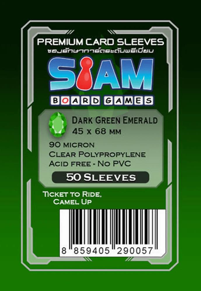 ซองใส่การ์ด 90M 45x68 MM  Dark Green Emerald (Siam Board Game)