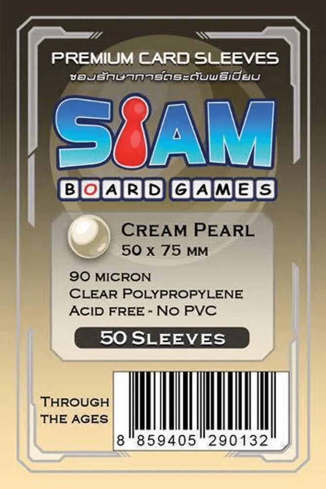 ซองใส่การ์ด 90M 50x75 MM  Cream Pearl (Siam Board Game)