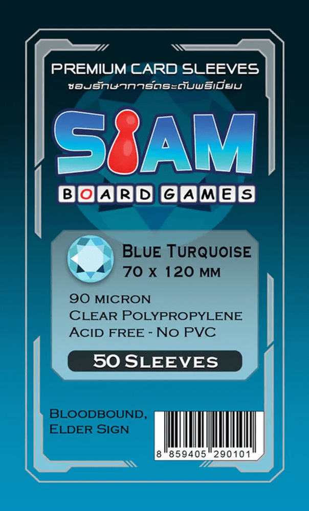 ซองใส่การ์ด 90M 70x120 MM Blue Turquiose (Siam Board Game)