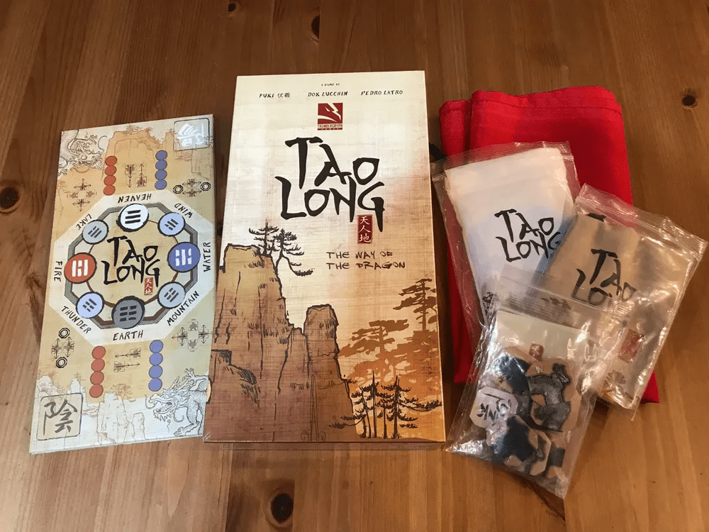 Tao Long: Deluxe Edition + all SG + 4 player deluxe expansion pack + Cardboard Board + Red Cloth + The Four Seasons