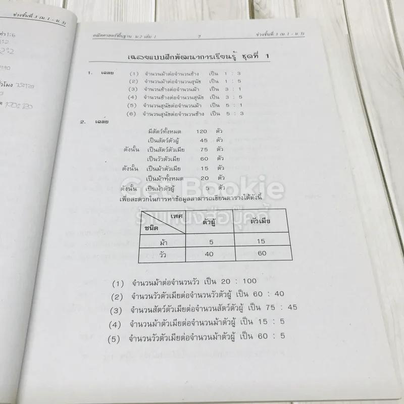 คณิตศาสตร์พื้นฐาน ม.2 เล่ม 1