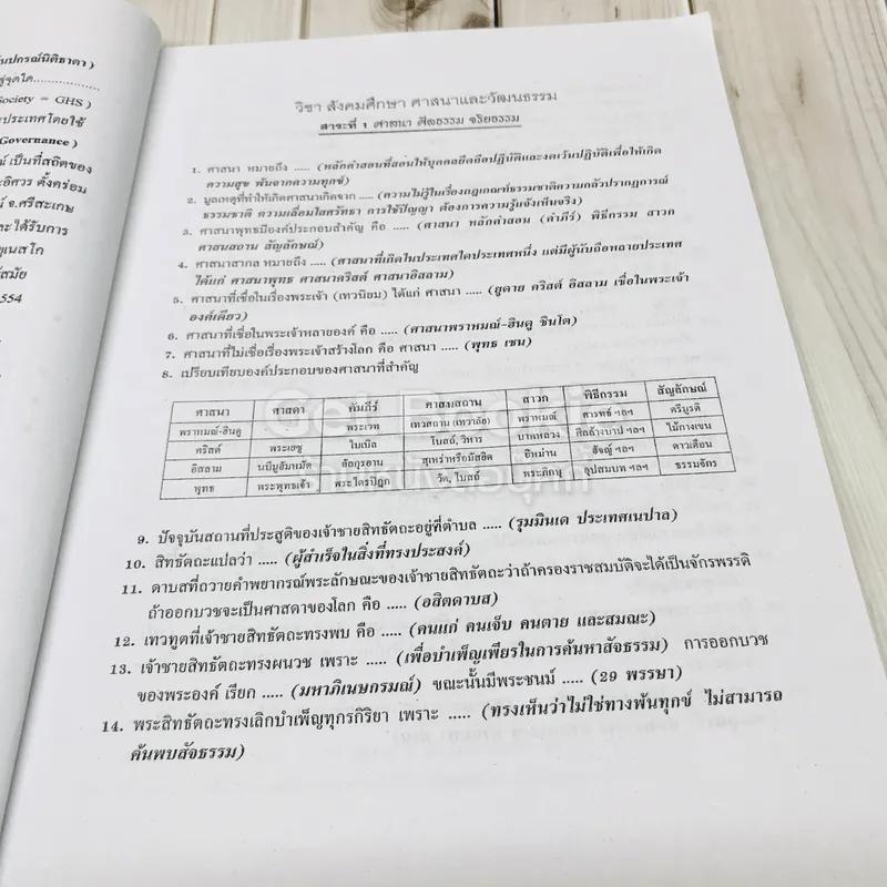 สังคมศึกษา ศาสนาและวัฒนธรรม ฉบับพิชิตข้อสอบเข้าม.1