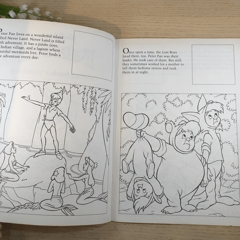 Peter Pan Coloring Sticker Storybook